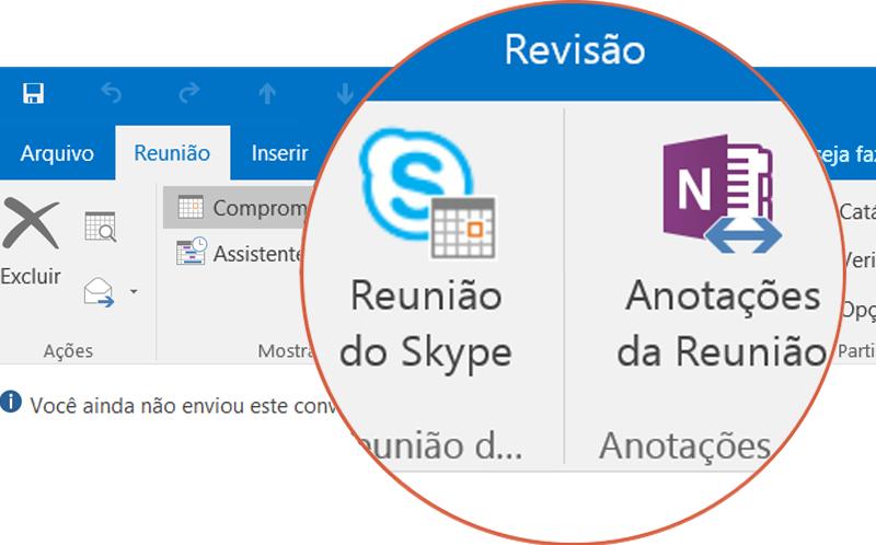 Colabore com o Skype e o OneNote