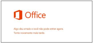 Problema ao entrar na Conta da Microsoft