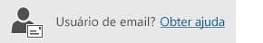 Botão para obter ajuda de usuário de email