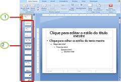Slide mestre com layouts associados