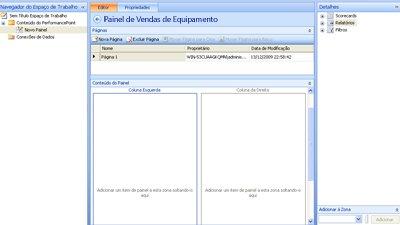 Captura de tela de um painel concluído no Dashboard Designer