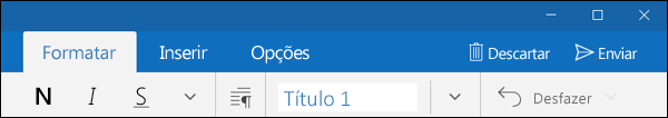 Guia Formatar no aplicativo Email do Outlook