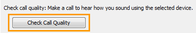 Verificar qualidade da chamada_OpçõesDoLync-DispositivoÁudio