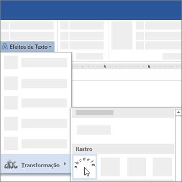 Opção para transformar texto para seguir um caminho