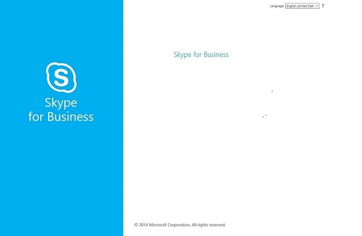 A blank page image when you join a meeting through a Skype for Business meeting url