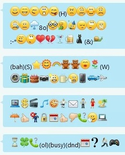 A snapshot for emoticons that are received in Skype for Business after you apply this update
