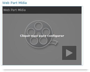 Web Part Mídia recém-inserida
