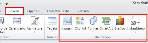 Outlook 2010 - Inserir Imagem