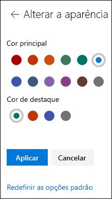 Personalizar o tema de seu site do SharePoint