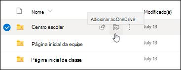 Adicionar atalho ao OneDrive