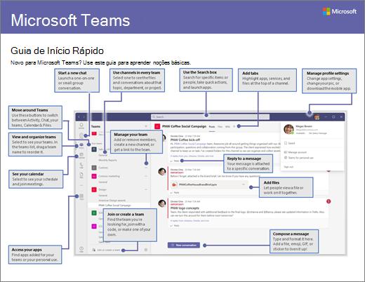 Início Rápido do Microsoft Teams disponível para download