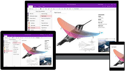 OneNote em dispositivos Windows