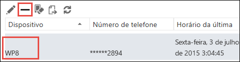 Remover o telefone do Outlook Web App
