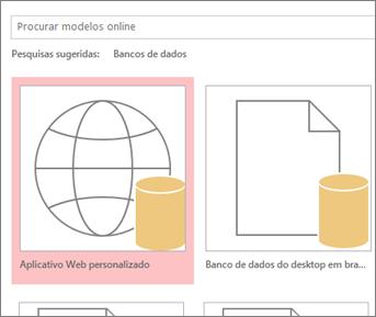 Botão Aplicativo Web personalizado na tela de inicialização.