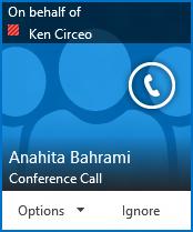 Alerta de chamada em conferência