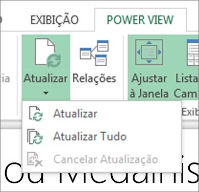 Botão Atualizar Power View