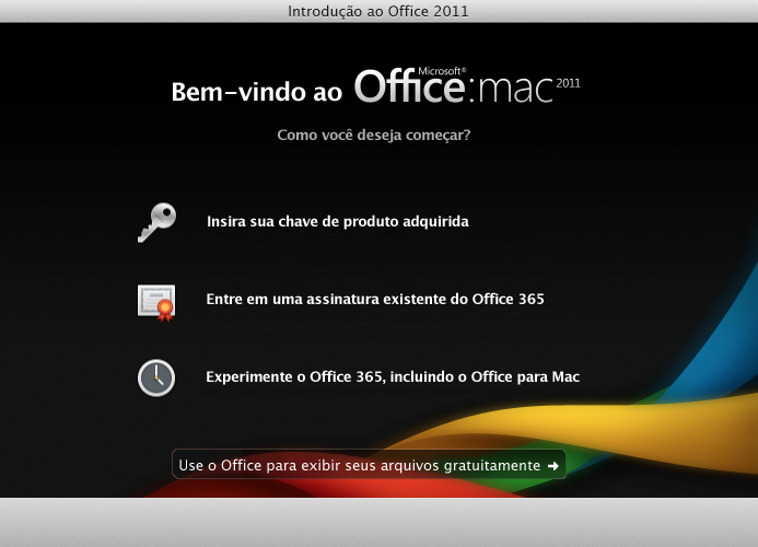 Entrar em uma assinatura do Office 365 existente