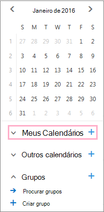 Adicionar um novo calendário