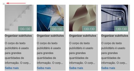 Iimage de um seletor de linha e uma linha selecionada em um boletim informativo email do Outlook