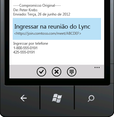 Ingressar na reunião do Lync