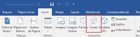 O grupo Ilustrações contém ferramentas que permitem que você adicione formas, ícones, SmartArt e muito mais ao seu documento