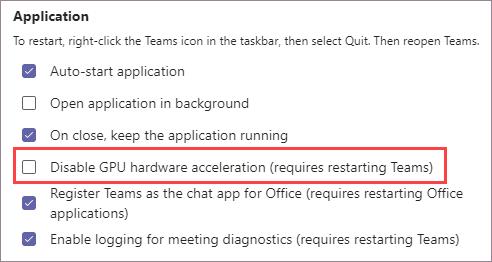Certifique-se de que a aceleração da CPU não está selecionada