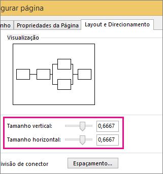 Mova os controles deslizantes ou digite números para definir os tamanhos dos saltos de linha.