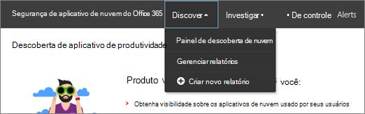 No portal de autoridades de certificação do Office 365, escolha descobrir