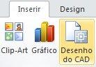 Botão Inserir Desenho do CAD