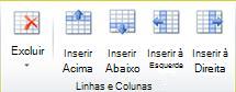 Grupo linhas e colunas da tabela no Publisher 2010