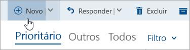 Captura de tela do botão Escrever uma nova mensagem