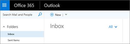 Uma imagem da aparência da faixa de opções do Outlook na Web.