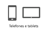 Telefones e tablets