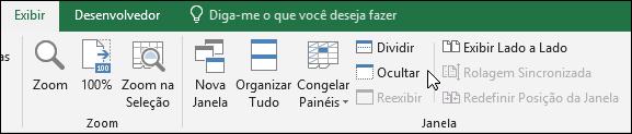 Ocultar ou mostrar uma pasta de trabalho do modo de exibição > Windows > ocultar/reexibir