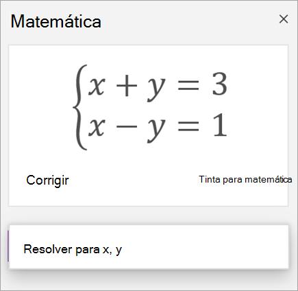 Uma equação de sistemas escrita com colchetes