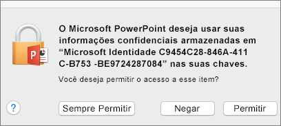 Office 2016 for Mac Keychain Access message