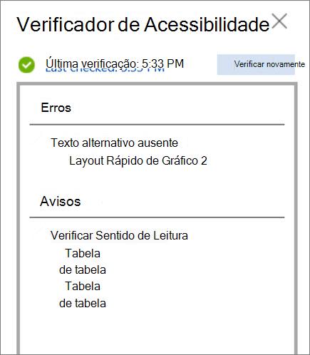 Verificar acessibilidade no Word para a Web