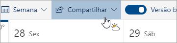 Uma captura de tela do botão Compartilhar