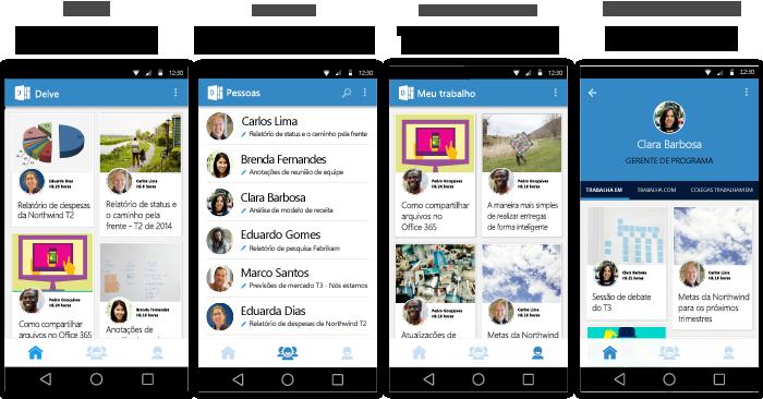 Telas do Delve para Android