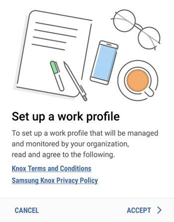 Configurar perfil de trabalho
