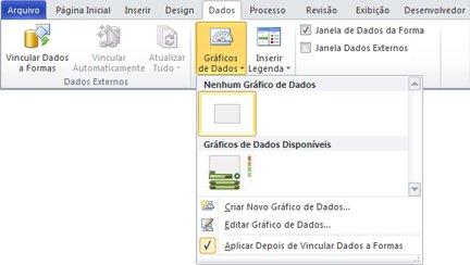 Selecione Nenhum Gráfico de Dados para remover um gráfico de dados de sua forma.