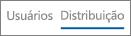 Captura de tela do modo de exibição de Distribuição no relatório de uso do Yammer