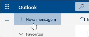Uma captura de tela do botão Nova mensagem