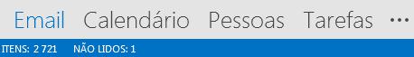 A guia Pessoas fica na parte inferior da tela do Outlook.
