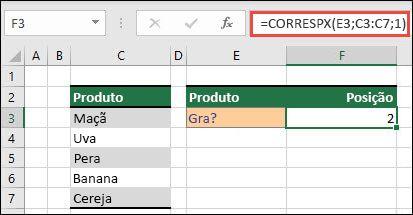 Exemplo de como usar o CORRESPX para retornar uma pesquisa com curinga