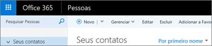 Aparência da faixa de opções do Outlook na Web.