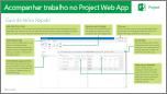 Guia de Início Rápido: Acompanhar trabalho no Project Web App