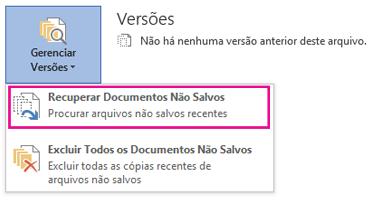 Recuperar documentos não salvos no Word