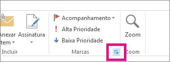 Clique na seta na parte inferior do grupo Marcas.