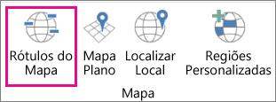 Opção Rótulos de Mapa de Mapas 3D